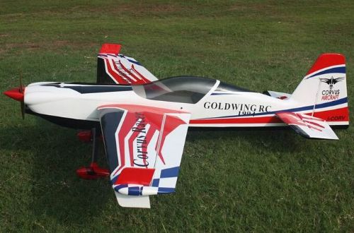 "Goldwing Rc CORVUS 70E 59"" ARF Extreme Series Electric C F Version White-Red"